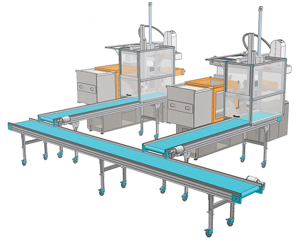 Horizontal Flat Bed Conveyor System