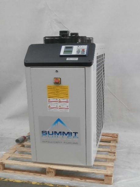Microgel air condensed water chiller