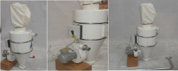 Cyclone dust removal unit