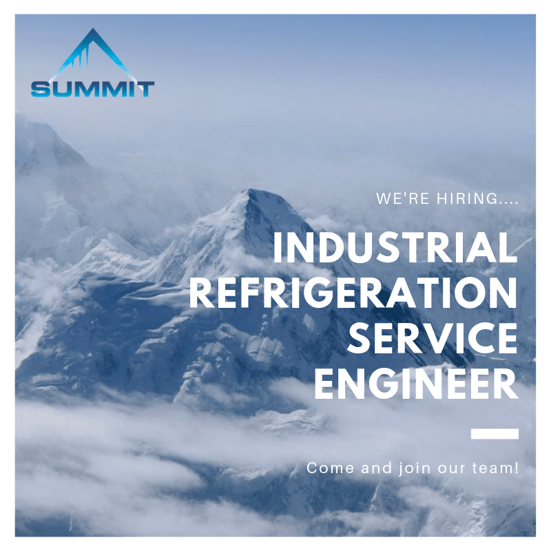We're hiring – Industrial Refrigeration Engineer